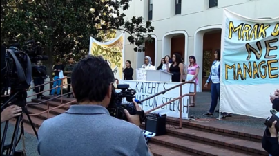VIDEO: Katehi protest continues at Mrak Hall