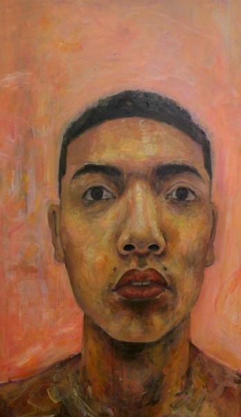 "Lim's self portrait titled, ""Salmonella."" It is displayed in the Crocker Art Museum and it was awarded honorable mention in the self portrait show."