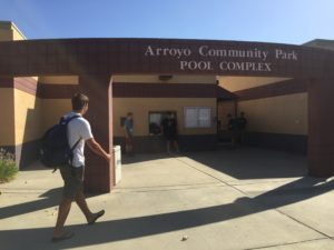Tazio Rosenberg worked as a lifeguard at both Arroyo and Manor pools in Davis this summer.