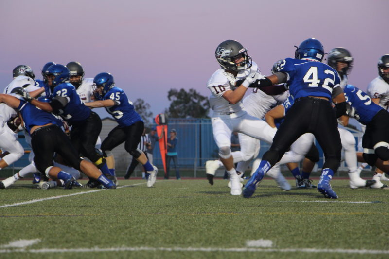 The Blue Devils faced off against the Woodcreek Timberwolves in their first home game of the season (Photo: T. McMorrow).