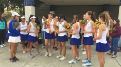 Women's tennis smashes its way to victory on senior night