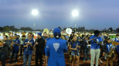 Pep Band cheers on crowd at homecoming