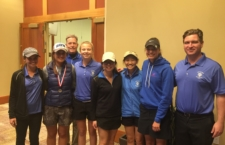 The women's Blue Devil golf team finished its last tournament of the season together as a team at the Timber Creek Golf Course.