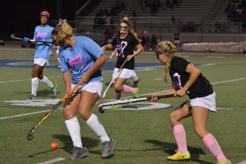 Senior Nicole Pugh keeps the ball away from a Chico player.