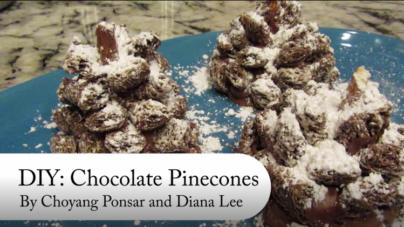 DIY: How to make edible chocolate pinecones