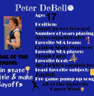 Peter DeBello joins varsity basketball