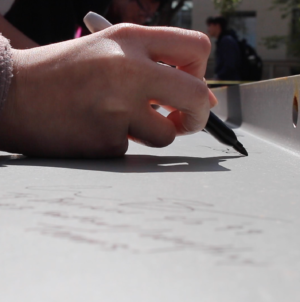 VIDEO: All Student Center beam signing