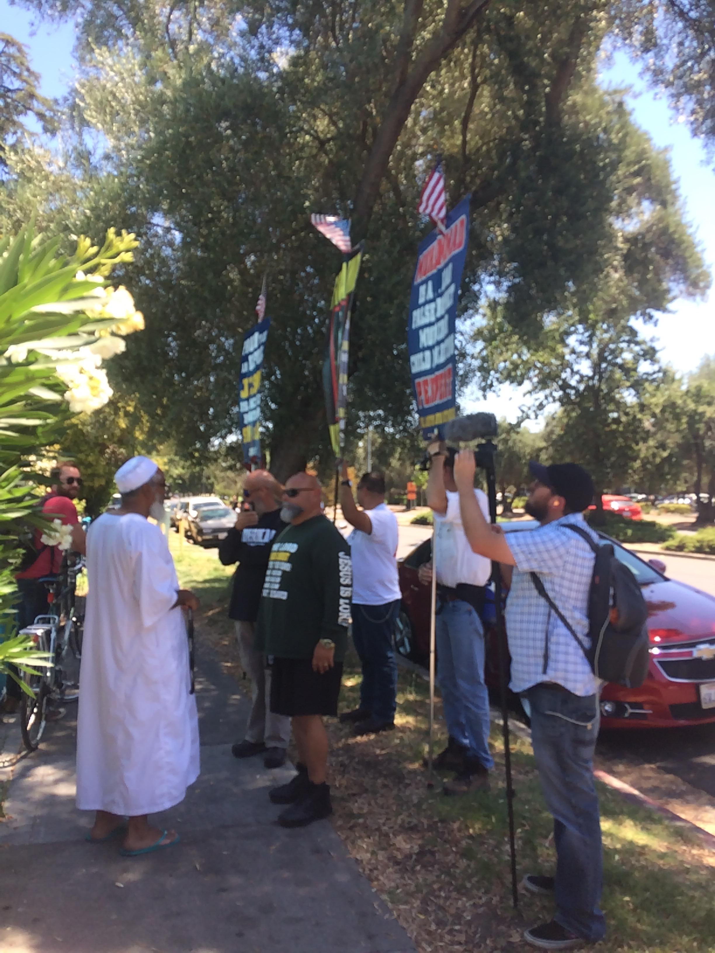 Protest outside Davis Islamic Center