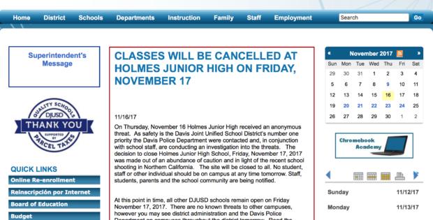 Junior high closed due to gun threat