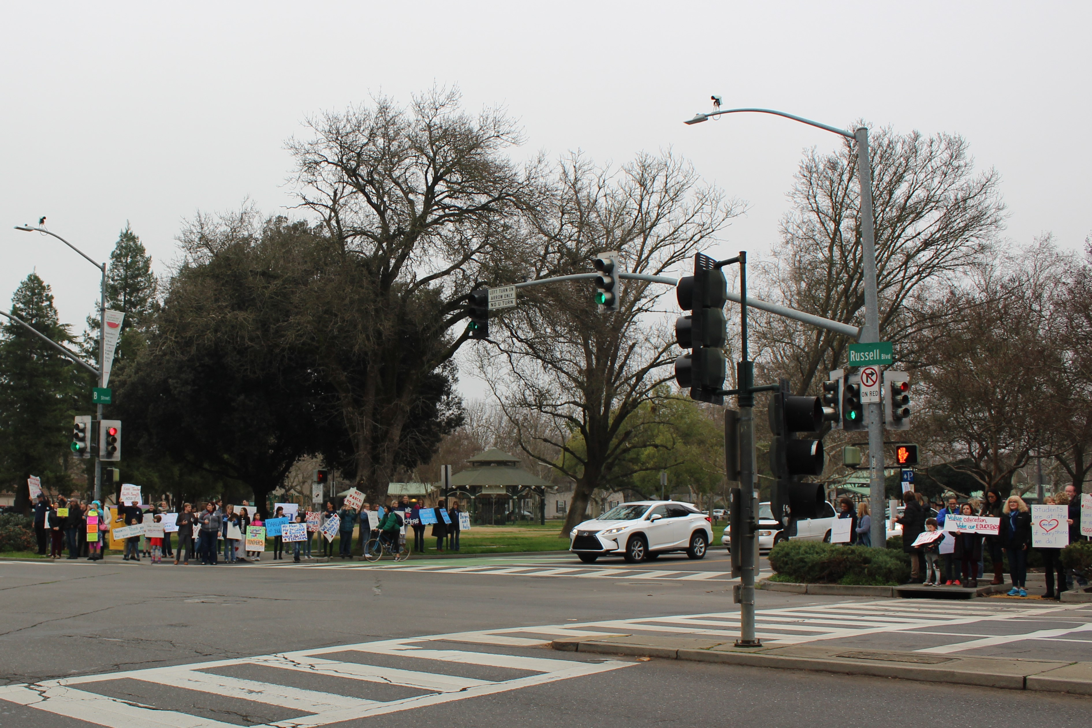 Teachers, community members gather to promote quest for fair contract