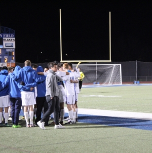Haircuts and penalty kicks: men's soccer finishes season in quarterfinals