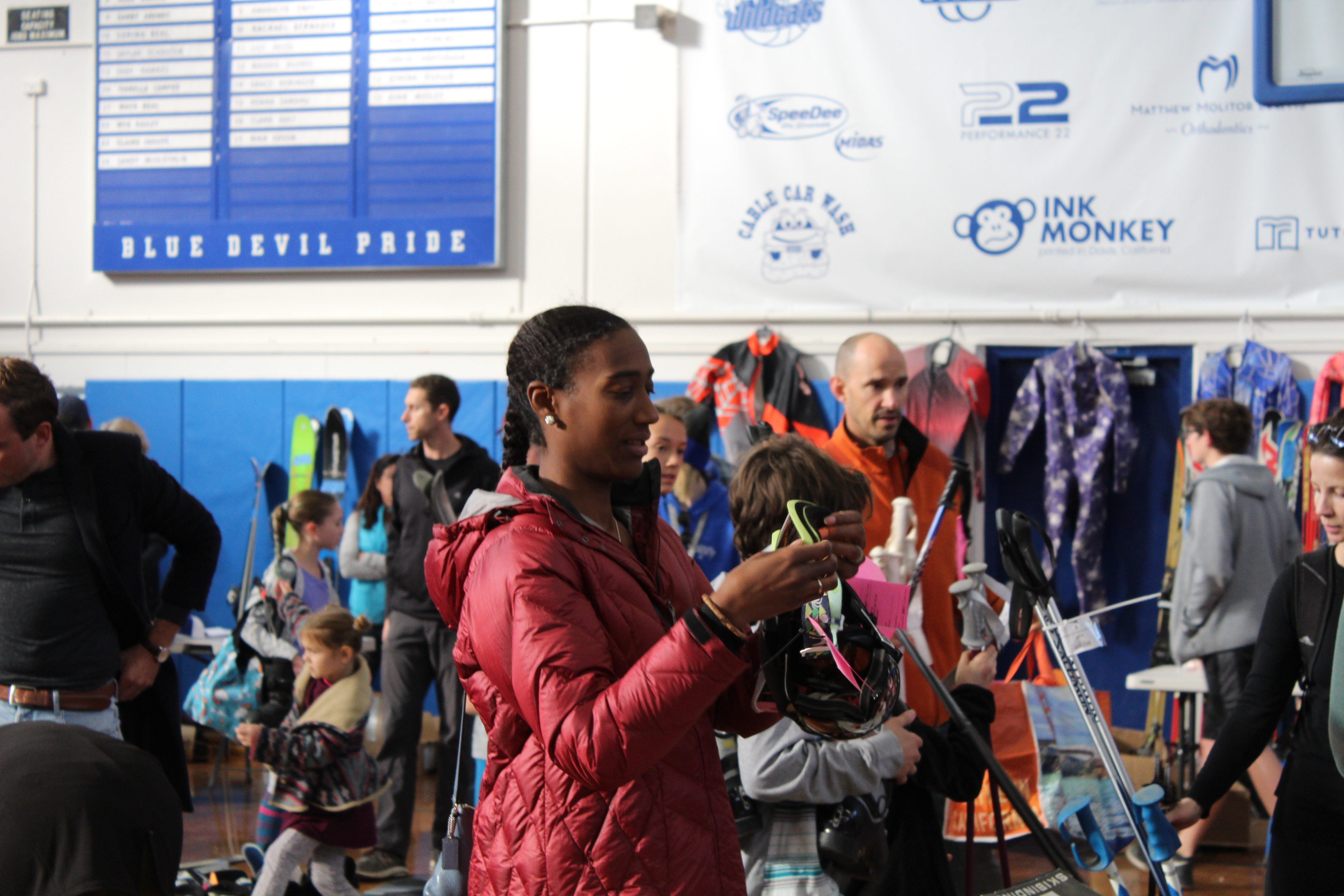 The ski swap is a great place for anyone looking to find bargains on ski equipment.