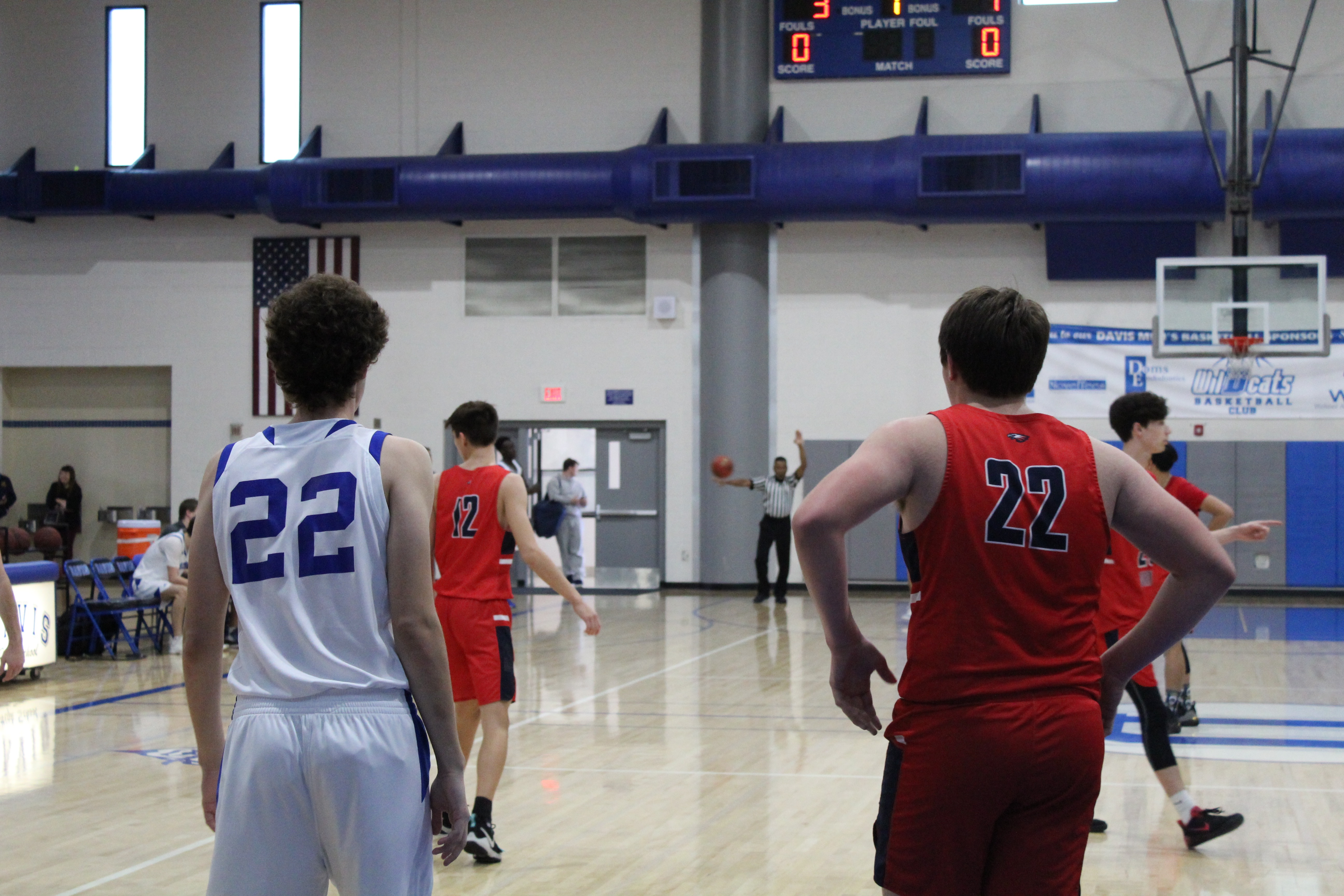 Junior Ryan Hakl sizes up his opponent.