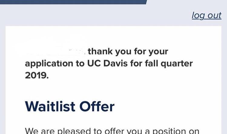 Uc davis fall quarter 2019