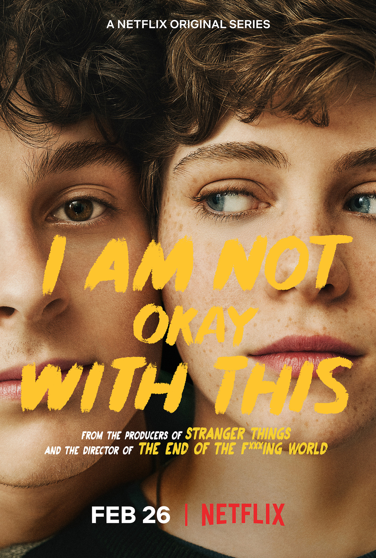 "Movie poster for Netflix's ""I Am Not Okay With This"""