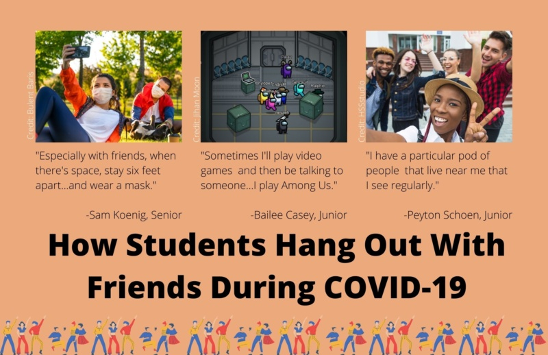 How three students hang out with friends during COVID-19
