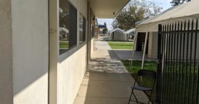 Empty hallway of Woodland Christian School