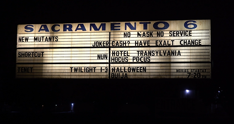 Sacramento West Wind Drive-in marquee sign