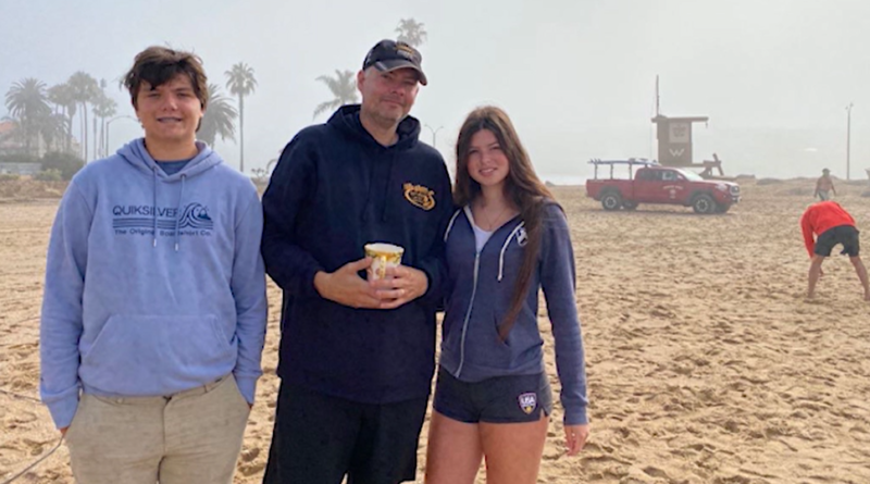 Veronika Edson and her family at Newport Beach