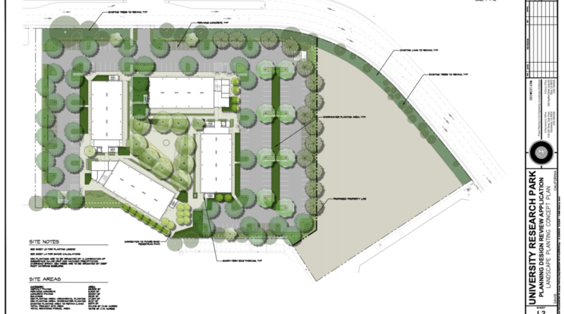 Map for the proposed research and residential center