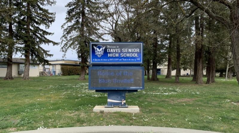 front of Davis High