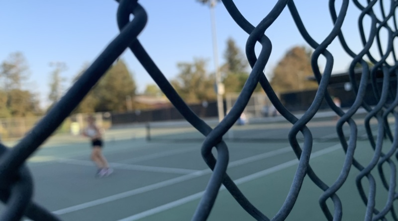 Tennis players on the Davis High courts