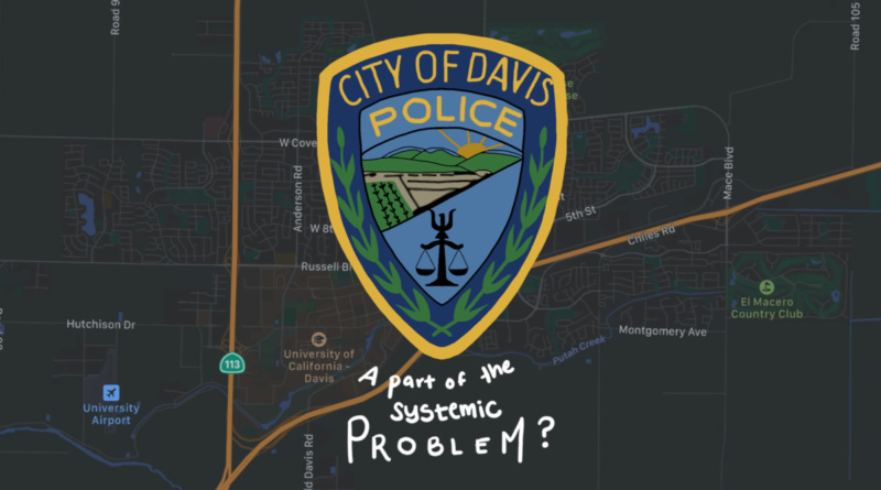 Davis map with Davis PD logo